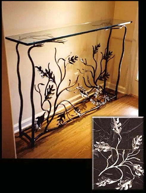Wrought Iron Foyer Table Jpg